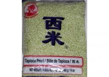 Tapioka perełki - mini- zielone - 400g