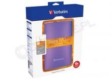 Verbatim Store n Go USB 3.0 Portable Hard Drive 1TB fioletowy