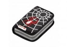 Piórnik szkolny z wyposażeniem Black Spider