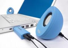 Głośniki do notebooka USB EGG niebieskie