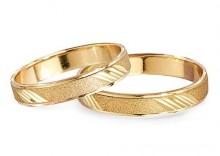 Złote Obrączki Ślubne Verona by Yes wzór 510