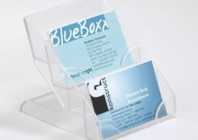 BUSINESS CARD DISPLAY BOX. pojemnik na 240 Wizytówek, 4 przegródki - OM3100