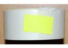 Rolka do metkownicy jednorzędowej - 2,1x1,2cm żółta prosta