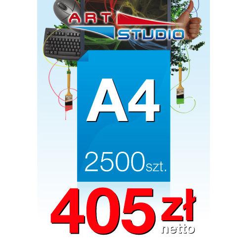 Ulotki A4 - 2500 sztuk