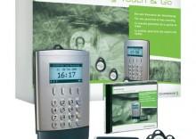 System rejestracji czasu pracy Chipdrive Touch & Go, czytnik, zestaw 25 chipów