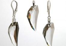 Srebrny komplet z Kryształami Swarovskiego - Pegasuss Pendant Crystal Silver Shade