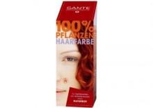 Farba roślinna do włosów- naturalna czerwień 100g Naturrot - Sante Naturkosmetik - naturalna czerwień