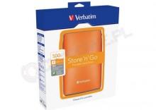 Verbatim Store n Go USB 2.0 Portable Hard Drive 500GB pomarańczowy