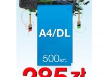 Ulotki składane A4 do DL - 500 sztuk