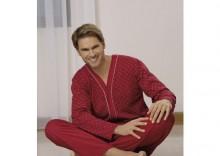 Senator piżama męska - długi rękaw,długie spodnie