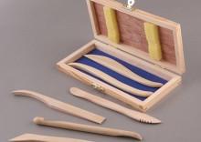 Drewniane szpatułki komplet 6 sztuk w kasecie