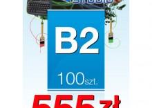 Plakaty listwowane B2 - 100 sztuk