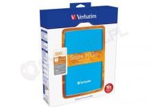 Verbatim Store n Go USB 3.0 Portable Hard Drive 500GB niebieski