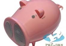 Głośniki przenośne z radiem różowa świnka