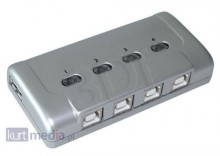 PRZEŁĄCZNIK DRUKARKOWY USB 2.0 AUTO 4PC -> 1