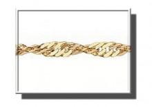 ZAA0181 | Łańcuszek Singapur 40cm z żółtego złota 585