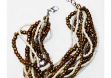 Orientalna biżuteria - Bransoleta z koralików