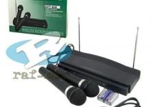 Zestaw bezprzewodowy karaoke z dwoma mikrofonami