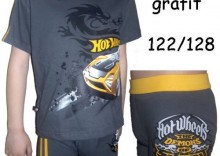 KOMPLET Koszulka+Bokserki HOT WHEELS Cornette HAMMER krótki rękaw 122/128