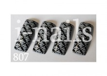 Tipsy Air-brushabr807 czarno białe Chanel 20 szt
