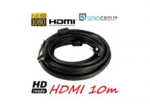 PRZEWOD KABEL HDMI-HDMI HQ 10m GOLD v1.3