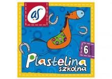 PLASTELINA SZKOLNA AS 6 kolorów