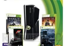Xbox 360 250GB + 4 gry