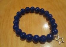 bransoleta ciemno niebieska z zawieszką