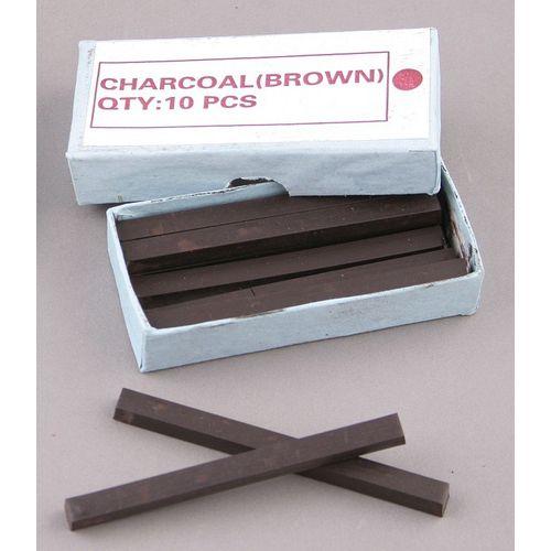 Węgiel sprasowany 10 sztuk - Kolor: brązowy