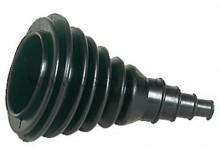 Osłona cięgna gumowa pod otwór dn.80mm - czarna