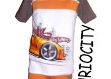 KOMPLET Koszulka+Bokserki HOT WHEELS Cornette FURIOCITY krótki rękaw 98/104