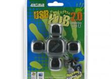Hub USB 2.0 4porty czarny składany