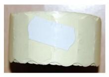 Rolka do metkownicy jednorzędowej - 2,6x1,2cm biała falista