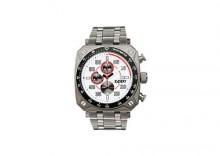 Zegarek ZIPPO biała tarcza, stalowa bransoletka ZZ45020