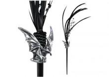 szpilka do włosów Raven Bat Hairstick [HS6] ALCHEMY GOTHIC