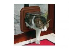 """Trixie """"Freecat de Luxe"""" drzwi dla kota 27 x 27 cm brązowe"""