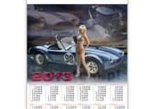 Kalendarz plakatowy Dziewczyna z samochodem 2013
