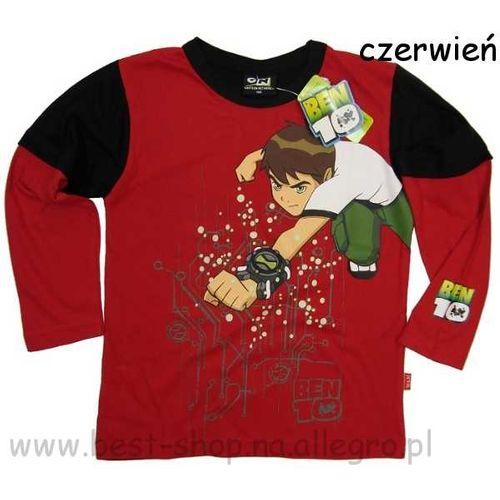 Bluza BEN10 koszulka długi rękaw ZEGAREK czerwona 128