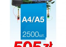 Ulotki składane A4 do A5 - 2500 sztuk