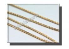 ZAA0014 | Złoty lancuszek SPIGA 50cm, żółte złoto 585 szer.1,2mm