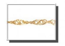 ZAA3110 | Łańcuszek z żółtego złota 585 wzór podwójny Singapur 45cm szer.2mm