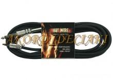 Kabel 3m czarny Jack stereo 6,3mm - Jack 3,5mm Stereo Jack - Jack mini / 3m HOT-WIRE 040