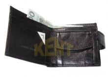 ANDRUS 504 CZARNY - Skórzany portfel męski