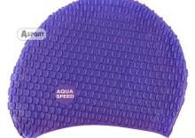 Czepek z silikonu na długie włosy BUBBLE II fioletowy Aqua-Speed