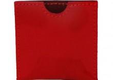 Elegancka skórzana kondomierka - Devine French Envelope czerwona