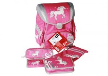 STEP BY STEP tornister szkolny Pink Pony - zestaw