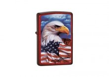 Zapalniczka Zippo Mazzi Freedom Watch Candy Apple Red Z24082