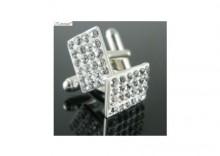 Dla niego - Biżuteria - Spinki do mankietów Chaton Style crystal