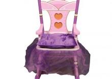 Tron Fotel Bujany dla Księżniczki De Luxe - Princess Deluxe Rocking Chair - Guidecraft # G83121 - WONDER TOY MEBLE