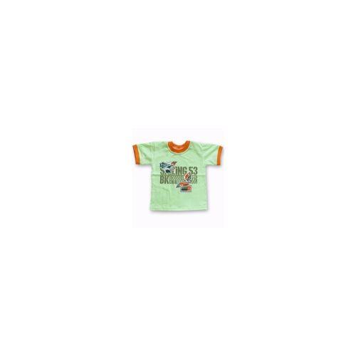 T-shirt Sporciak zielono-pomarańczowy 110